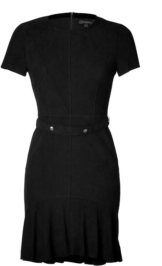 Rachel Zoe Leather Dress in Black