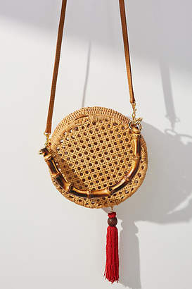 Serpui Marie Dalila Wicker Crossbody Bag