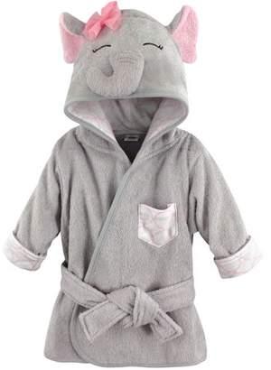 Hudson Baby Woven Terry Animal Bathrobe - Pretty Elephant