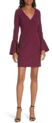 Milly Morgan Italian Cady Bell Sleeve Mini Dress