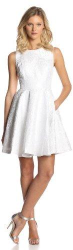 Erin Fetherston ERIN Women's Daffodil Metallic Jaquard Sleeveless Dress