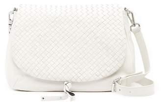 Christopher Kon Basket Woven Leather Crossbody Bag