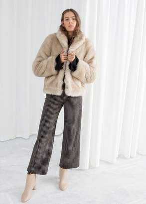 And other stories Short Faux Fur Jacket