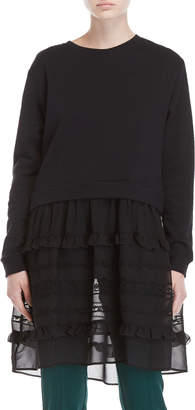 P.A.R.O.S.H. Sheer Skirted Sweatshirt