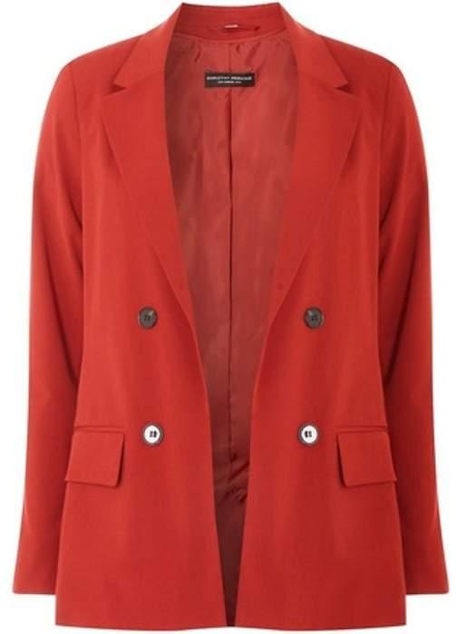 Womens Rust Longline Jacket