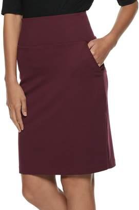 Apt. 9 Women's Tummy Control Ponte Pencil Skirt