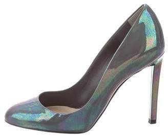 Christian Dior Iridescent Patent Leather Pumps