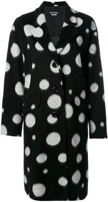 Moschino oversized spotted coat