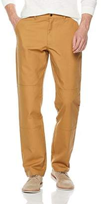 Co Quality Durables Men's Relaxed Fit Straight Fit Utility Canvas Work Pants Khaki