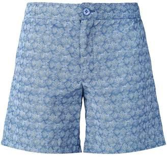 89f22ec984864 Fashion Clinic Timeless lines print swim shorts. Farfetch ...