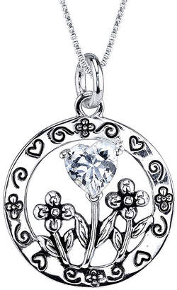 FINE JEWELRY Inspired Moments Cubic Zirconia Sterling Silver Daughter Pendant