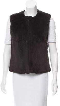 Theory Fur Crew Neck Vest