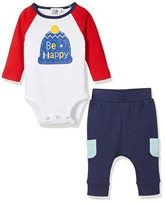 Silly Apples Pure Cotton Unisex Baby 2-Piece Long-Sleeve Bodysuit and Pant Outfit Set (9M)
