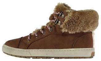 Soul Cal SoulCal Kids Girls Fur Hi Childs Trainers High Top Faux Winter Warm