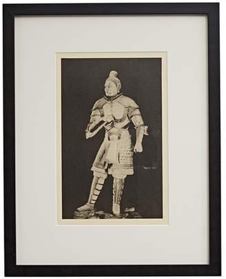 Rejuvenation Framed Photogravure of Chinese Warrior in Full Garb