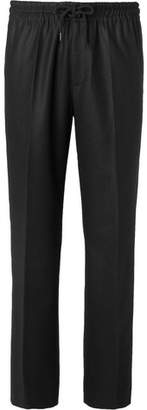 Undercover Wide-Leg Wool-Flannel Drawstring Trousers