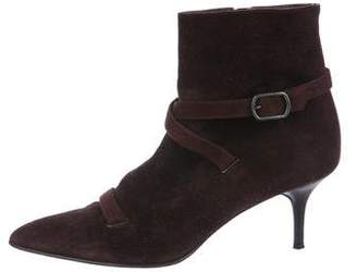 Calvin Klein Suede Pointed-Toe Boots