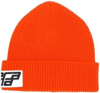 Prada logo beanie hat