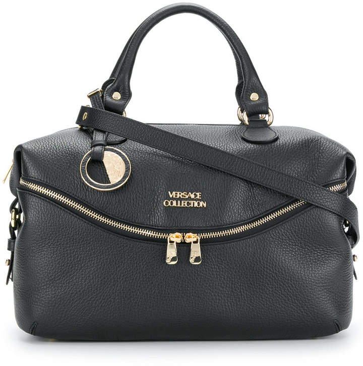 Versace Collection textured logo tote