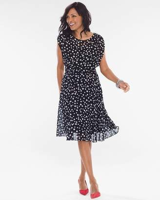 Chico's Polka Dot Fit-and-Flare Dress