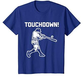 Touchdown Baseball T-Shirt funny saying sarcastic novelty