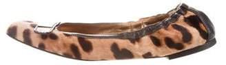 Dolce & Gabbana Ponyhair Round-Toe Flats