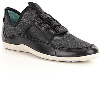 ECCO Bluma Sport Leather and Stretch Textile Toggle Slip-On Sneakers $110 thestylecure.com