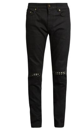 SAINT LAURENT Distressed skinny jeans $1,190 thestylecure.com
