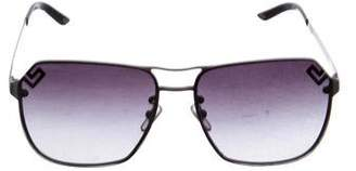 Versace Rimless Aviator Sunglasses