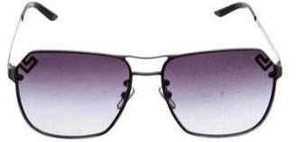 Versace Rimless Aviator Sunglasses