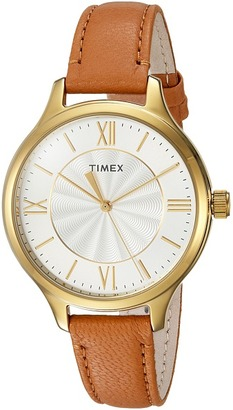 Timex - Peyton Leather Strap Watches $55 thestylecure.com
