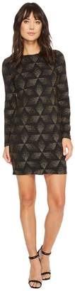 Vince Camuto Novelty Knit Long Sleeve Sheath Dress Women's Dress