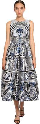 Mary Katrantzou Printed Silk Blend Jacquard Midi Dress