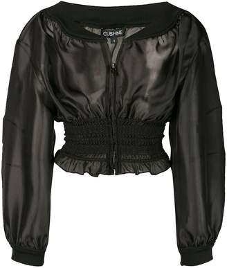 Cushnie sheer smock jacket