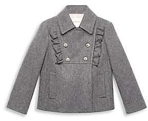 Gucci Little Girl's & Girl's Wool Ruffled Bib Coat