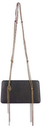 Lanvin Leather Chain Evening Bag