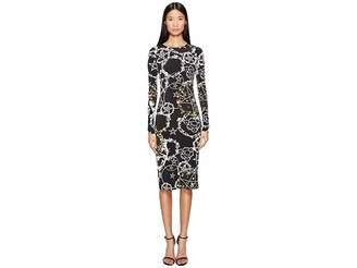 Preen by Thornton Bregazzi Cherry Long Sleeve Stretch Crepe Dress Women's Dress