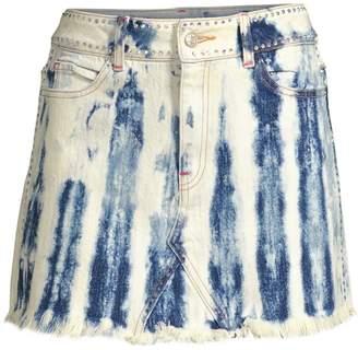 Frankie B. Cindy Denim Mini Skirt
