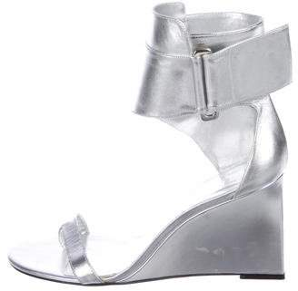 Karl Lagerfeld by Metallic Leather Sandals