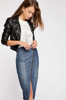 One Teaspoon Oneteaspoon OneTeaspoon Reformer High Waist Zip Skirt