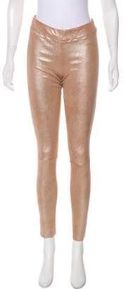 Sylvie Schimmel Leather Mid-Rise Pants