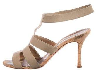 Manolo Blahnik Caged Ankle Strap Sandals