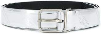 Maison Margiela metallic logo-embossed belt