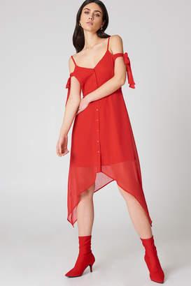 Na Kd Boho Knot Detail Midi Dress