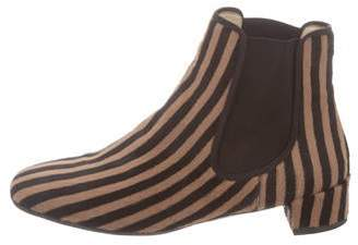 Frances Valentine Striped Ankle Boots