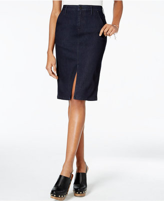 Calvin Klein Jeans Denim Pencil Skirt $69.50 thestylecure.com