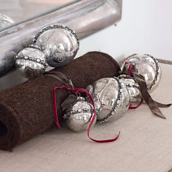 LOBERON Weihnachtsschmuck 6er-Set Cloé