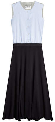 Maison Margiela Dress with Striped Sleeveless Shirt