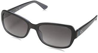 GUESS Women's Gu7474 Rectangular Sunglasses