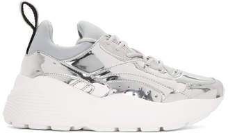 Stella McCartney Silver Metallic Sneakers